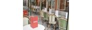 Un air d'Italie à Paris Restaurant Italien en plein cœur de Paris et son mobilier en rotin naturel